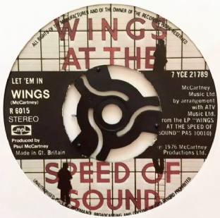 "Wings ‎- Let 'Em In (7"") (G+/NM)"